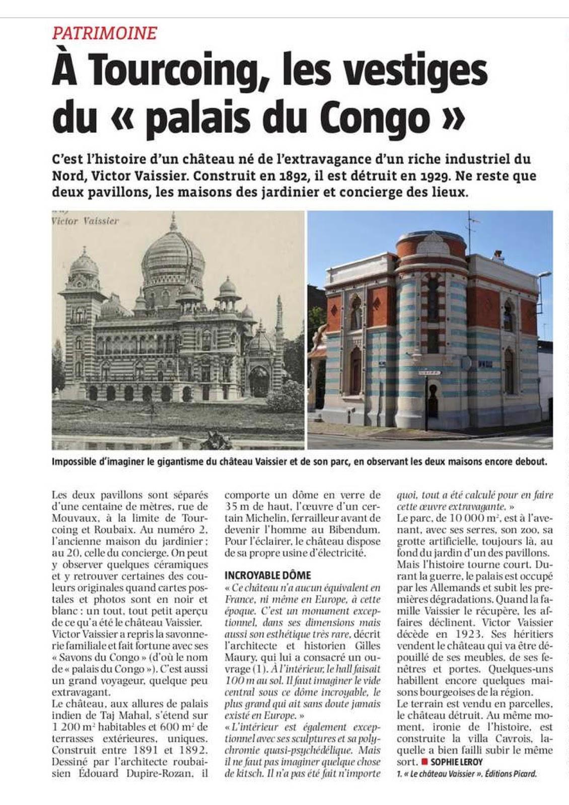 Le ch teau de victor vaissier ou le palais du congo du roi du savon publications - Le roi du matelas roubaix ...