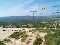 Panoràmica vers el sud-oest des del Serrat de la Madrona