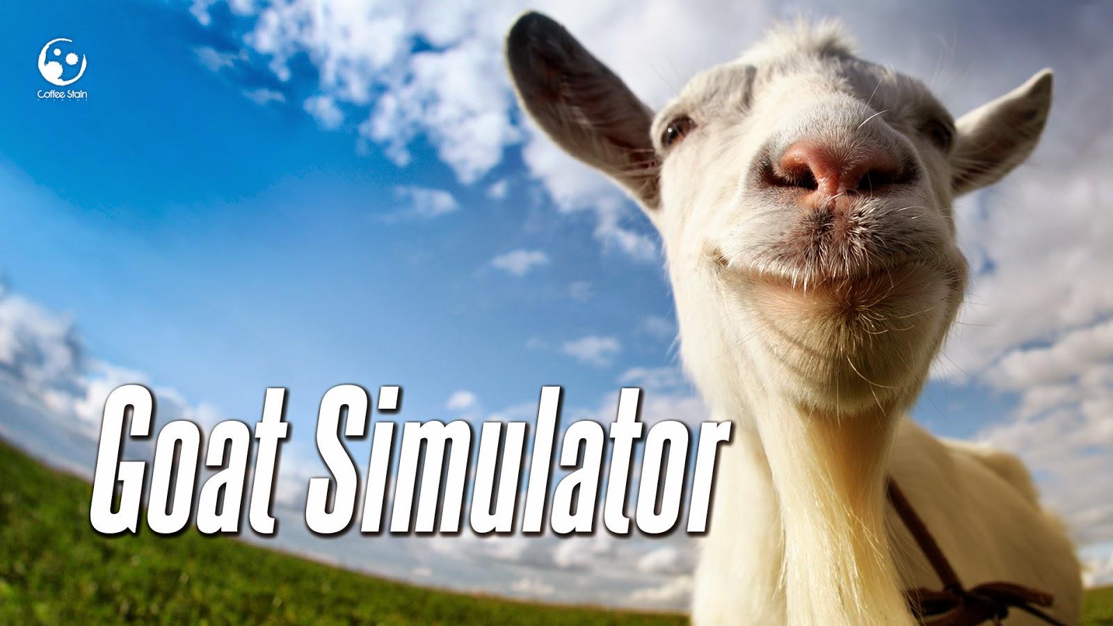 goat simulator title poster