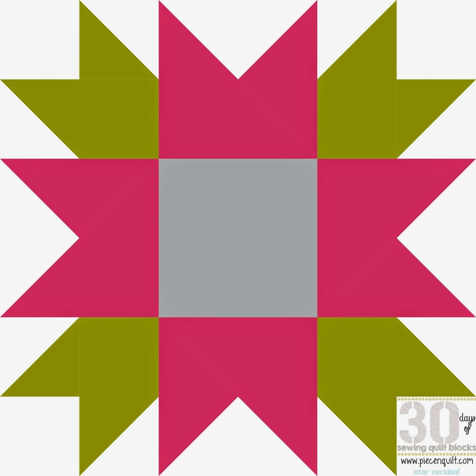 Piece N Quilt: How to: Flower Star Quilt Block - 30 Days of Sewing ... : star flower quilt block pattern - Adamdwight.com