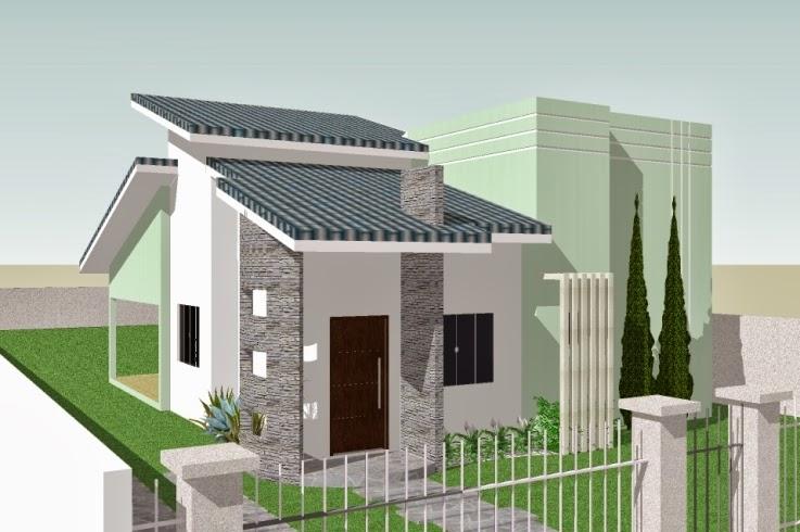 Fachadas de casas simples bonitas e pequenas decorsalteado for Fachadas de piedra para casas pequenas