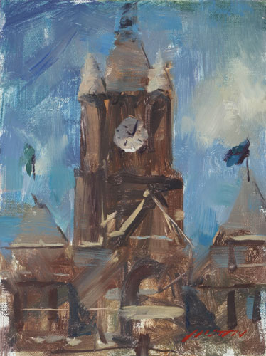Best-jzaperoilpaintings-Clock-Tower-Oil-Paintings-Image