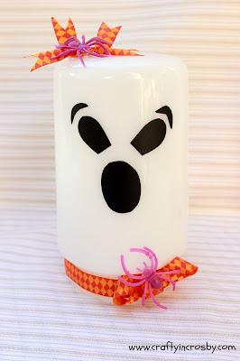 vintage ghosts, glass globe ghosts, Halloween Decorating, Halloween DIY