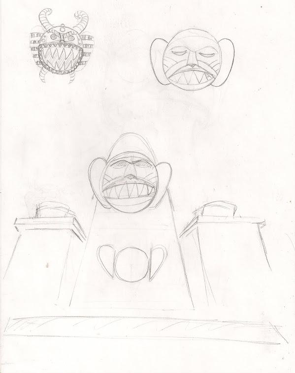croquis masque de grosse mouche