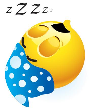 сонный смайлик: