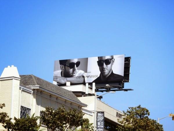 Calvin Harris Emporio Armani sunglasses billboard