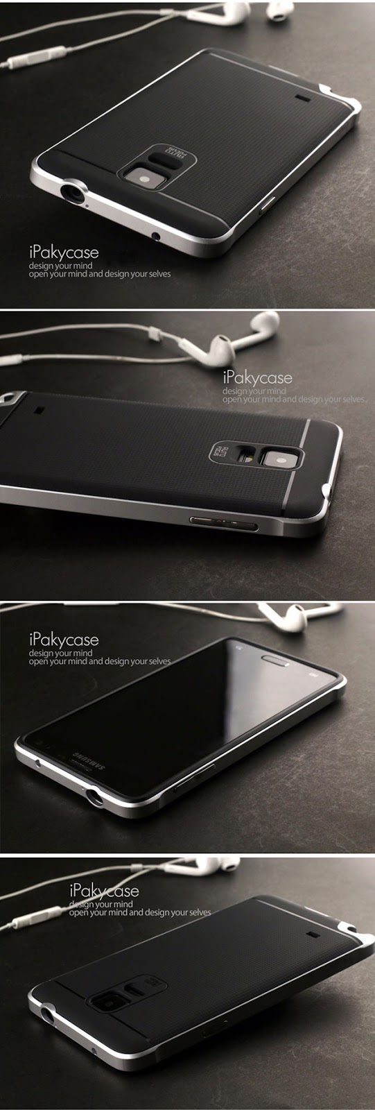 เคส Note 4 สไตล์ไฮบริดของแท้ 131001 สีเงิน