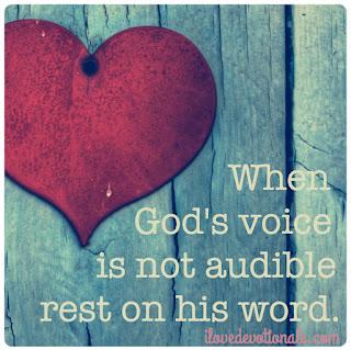 When God's voice is not audible devotional