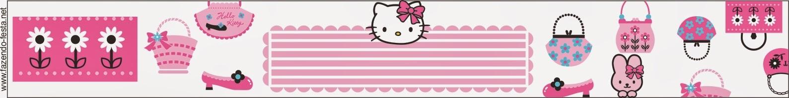 Para hacer etiquetas para Candy Bar de Hello Kitty.
