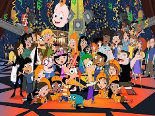 Personagens do desenho animado Phineas e Ferb