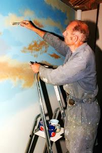 Jan Fekjan svinger penselen