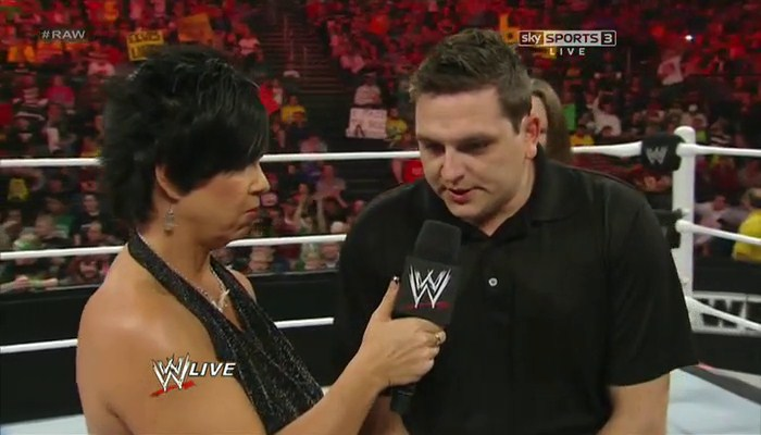 Vickie Guerrero Speaks to another evidence Doug Brady a parking attendant