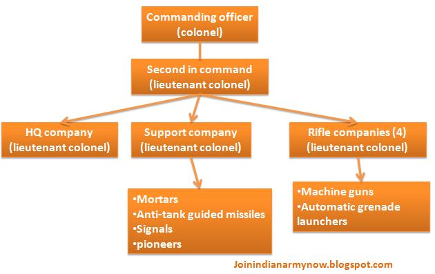 structure of infantry