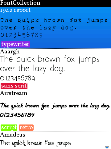 Blackberry Font Collections 2.8
