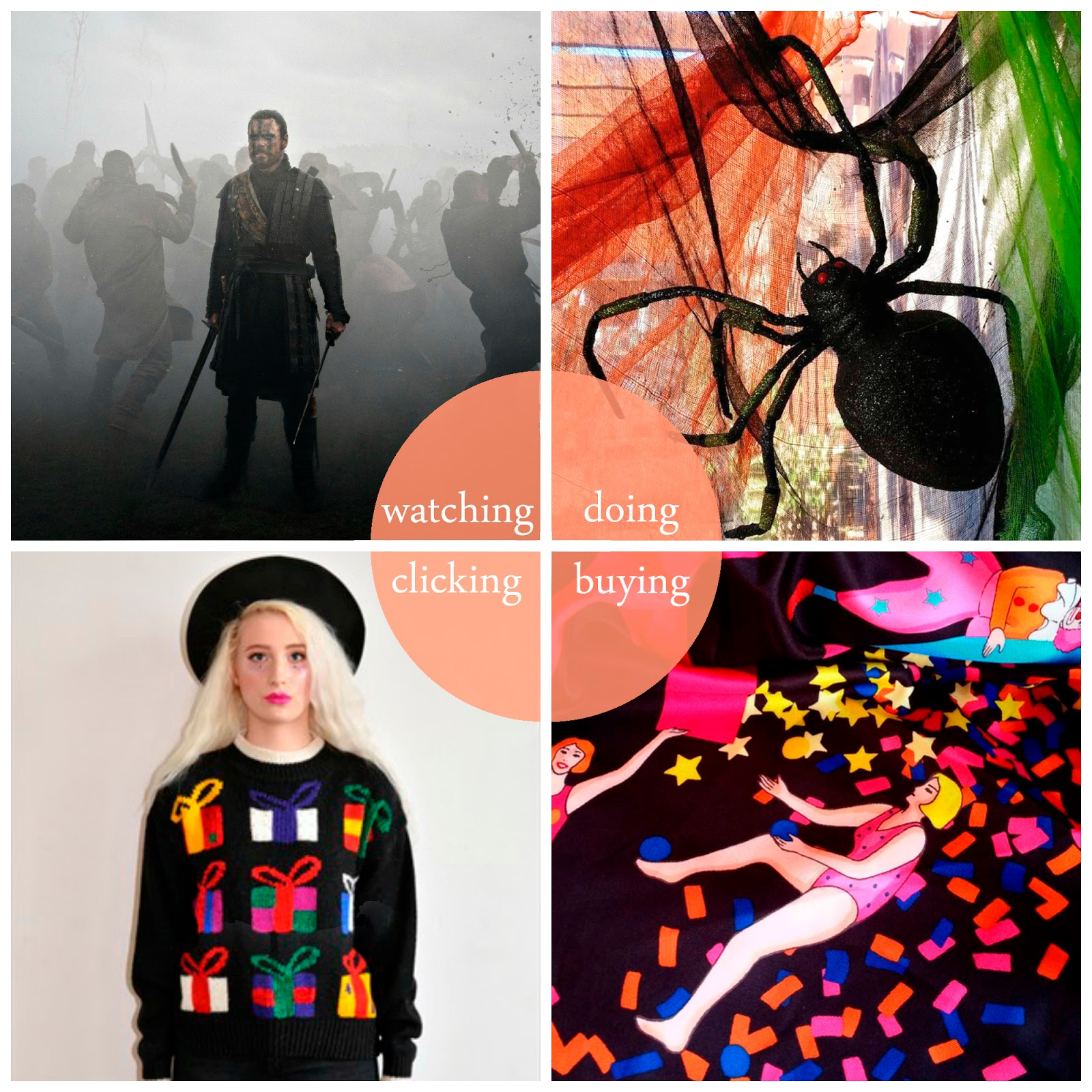 October, round up, best bits, The Martian, Macbeth, Charlton Farm, Halloween, Karen Mabon, Lush scarf, Lush Knot-wrap, Dreamland vintage,Scottish bloggers, Scottish blogging duo