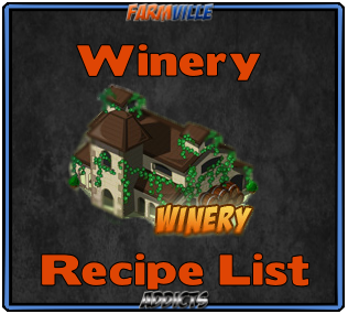 Winery Recipe List