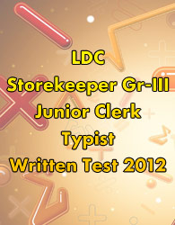 Pondicherry LDC written exam 2012