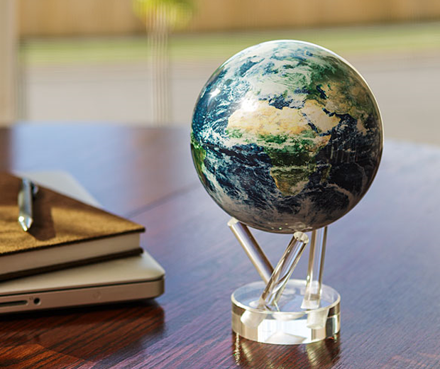 Spinning Earth Globe