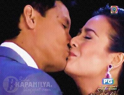 Richard Gomez and Dawn Zulueta Kiss at Walang Hanggang Pasasalamat Concert