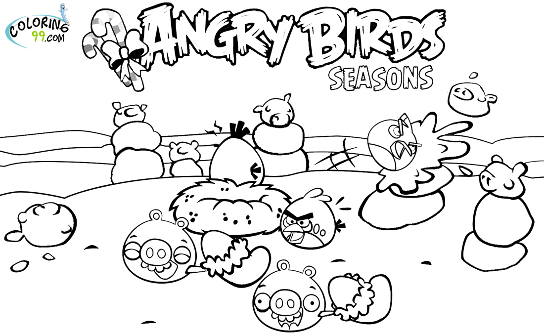4 Seasons Colouring Sheets : Angry birds season coloring pages team colors