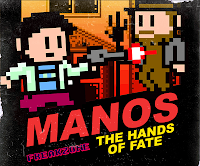 Manos, video game, Freakzone, Torgo, cover art, 8-bit, retro