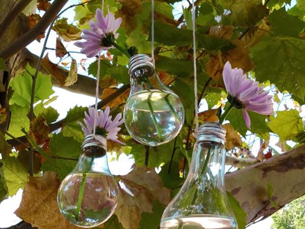 Fatto in casa: Un vaso per fiori in una lampadina con il ...