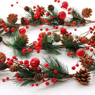 decoração com guirlandas de natal