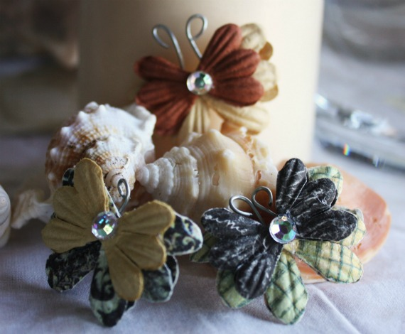 Vintage Style Butterfly Flowers