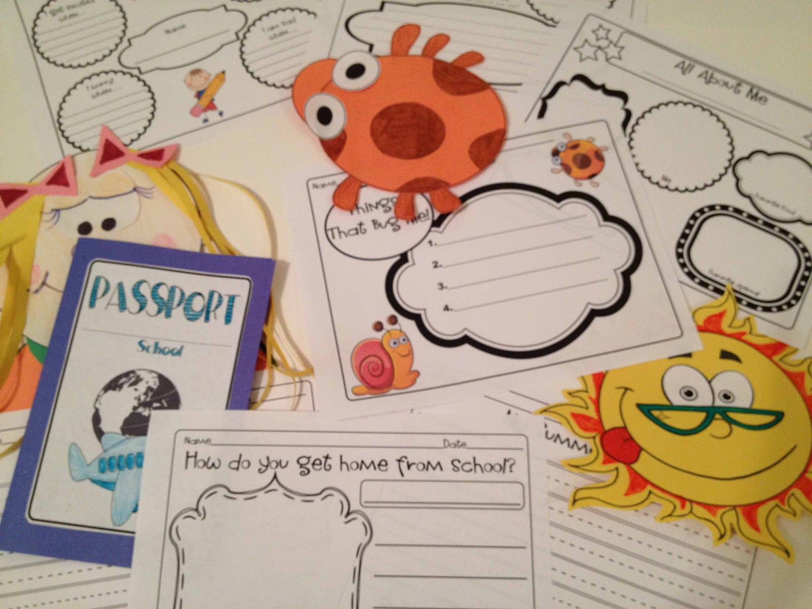 ALL About Me First Week of School Activities! First Day Jitters ...