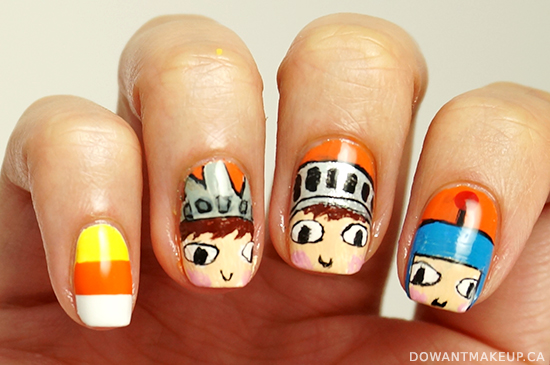 Costume Quest nail art