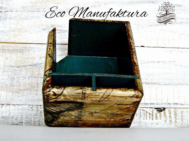 decoupage serwetka z motylem Eco Manufaktura