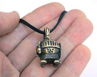 """Кулон-статуэтка """"Рыцарь"""" (2) купить ювелирные изделия латунь"""