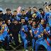 Team India recieves trophy, then rejoices