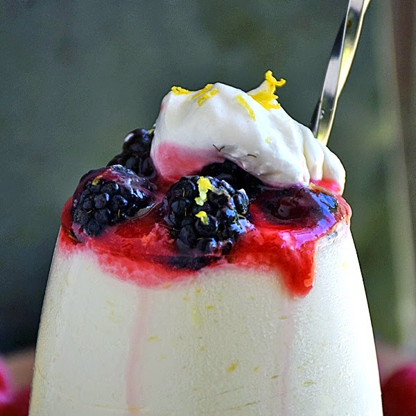 Lemon Mousse with Raspberry Sauce | Life Tastes Good