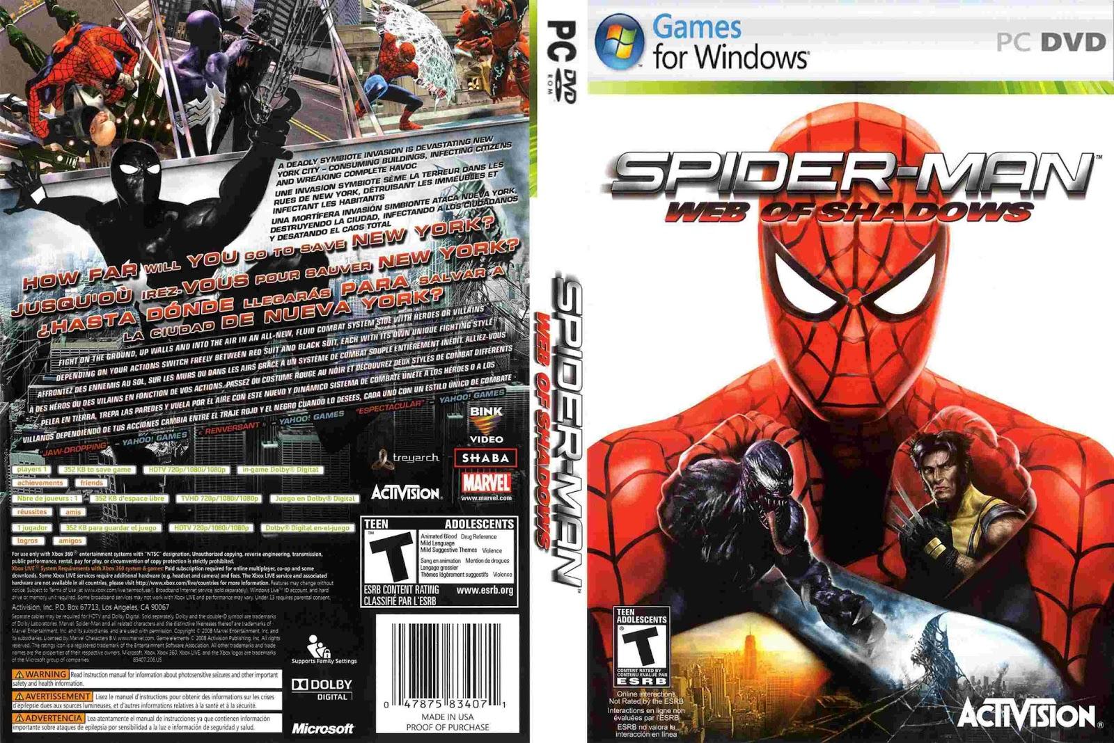 play spider man web of shadows