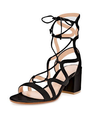 Gianvito Rossi black lace up low heeled shoes