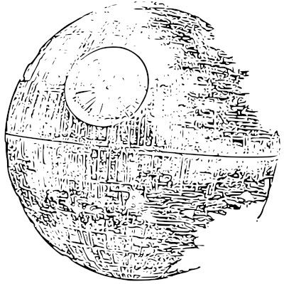 Death Star Coloring Sketch Coloring Page