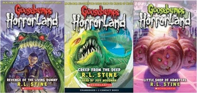 Goosebumps HORRORLAND sample bookcovers
