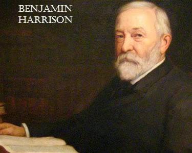 Benjamin Harrison born on 20 August
