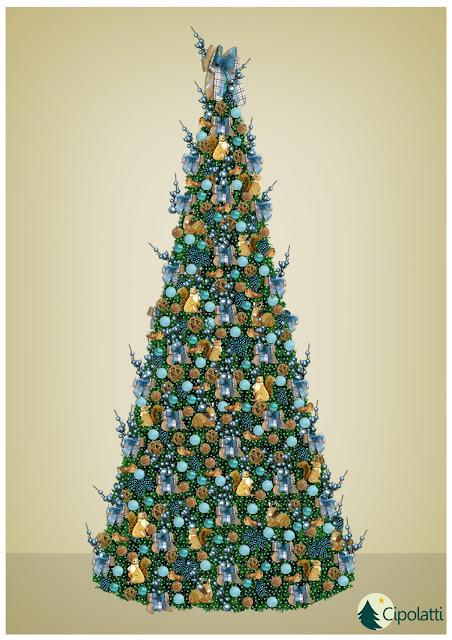 Natal do Brasília Shopping - Natal Azul com os Esquilos