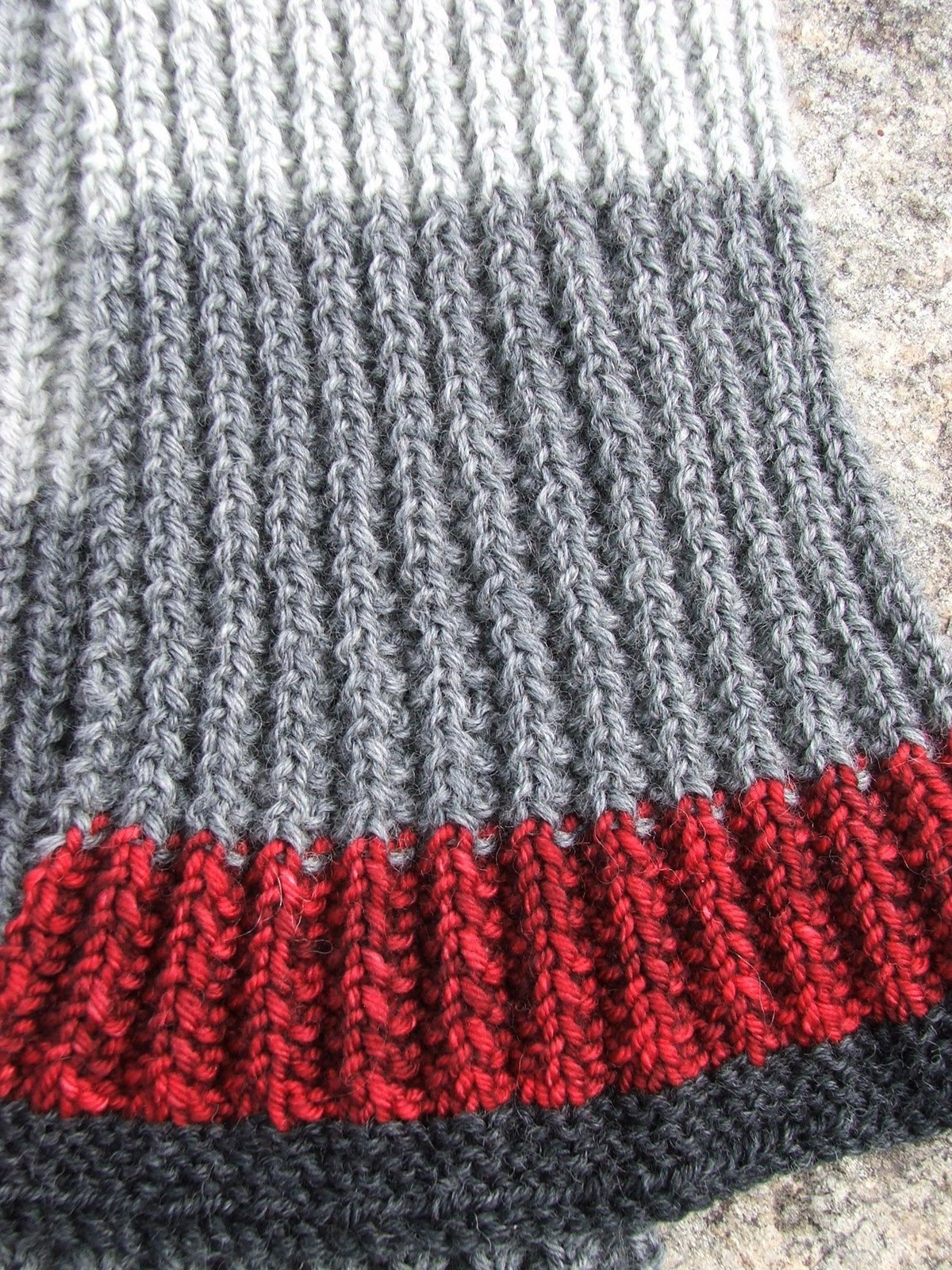 Knitting Pattern Mistake Rib Scarf : Knitting Therapy: Mistake Rib Scarf