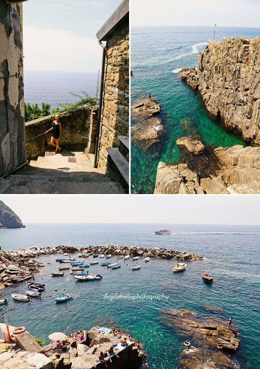 where to swim in cinque terre photo