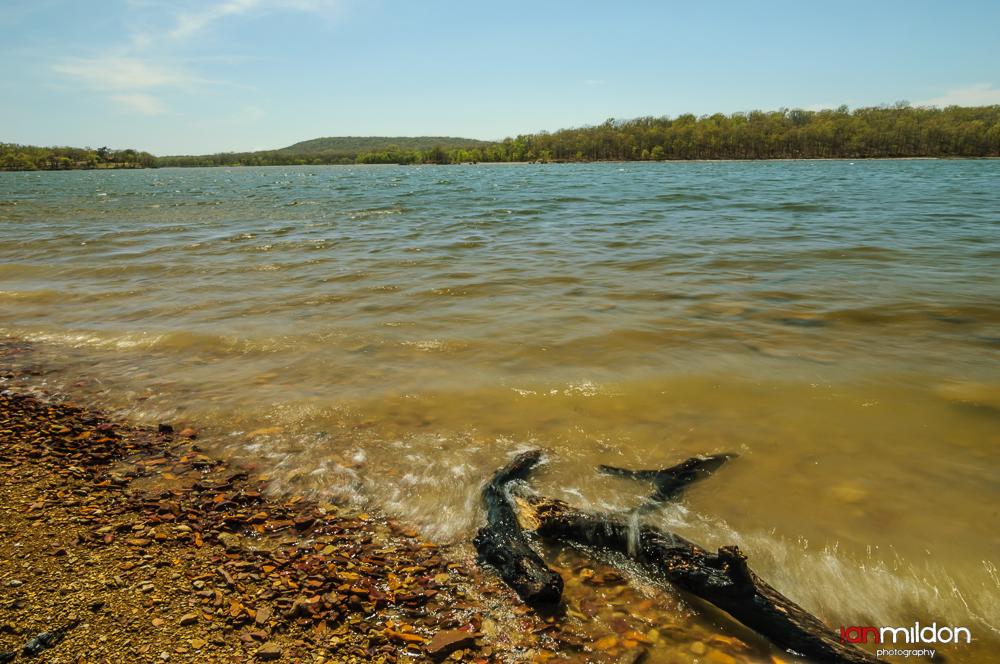 lapping waves at Okmulgee Lake, Oklahoma