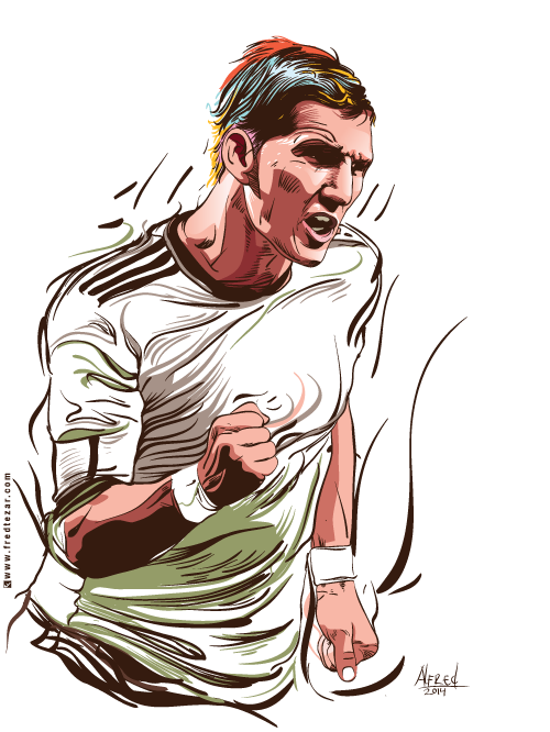 Bastian Schweinsteiger  vector detail pemain sepakbola jerman berlaga di piala dunia 2014