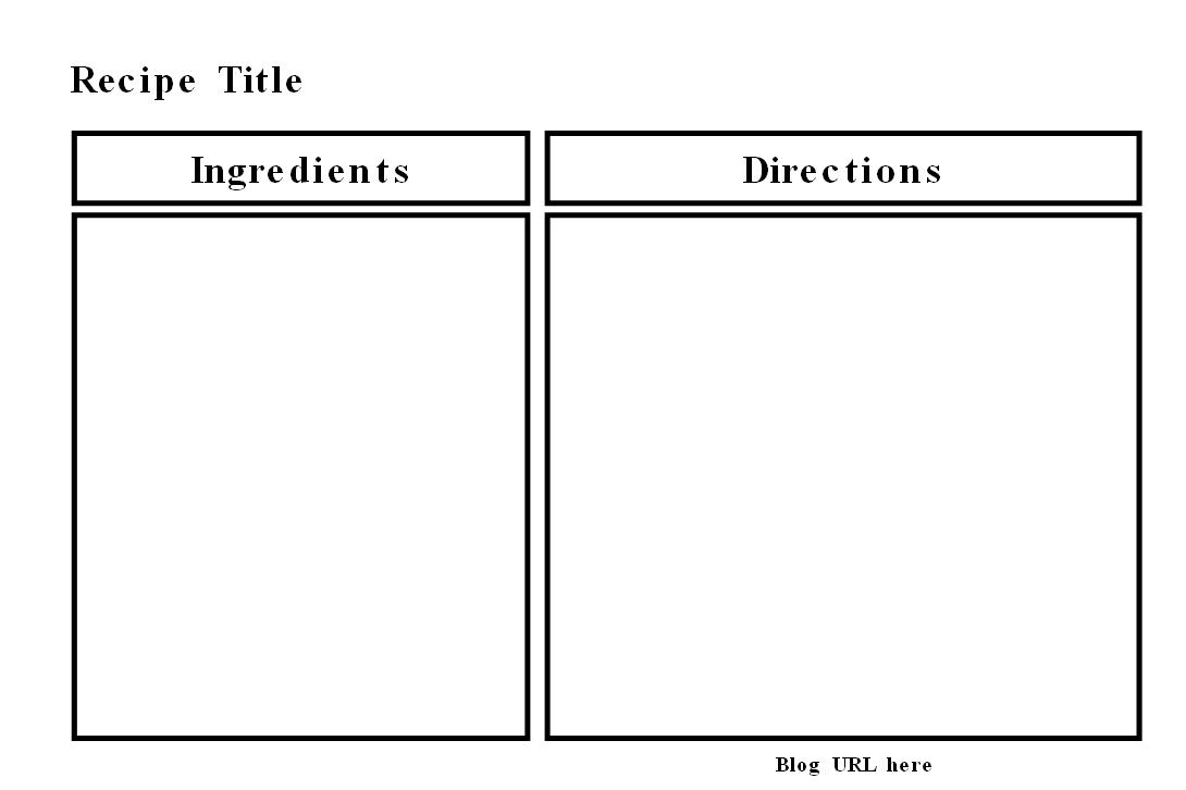 recipe page template microsoft word