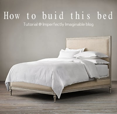 how to build a restoration hardware maison inspired bed using ana whites platform base to start