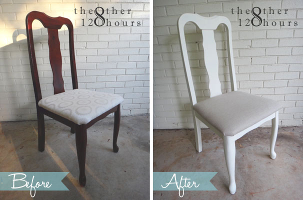 queen anne chairs makeover - before and after