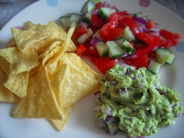 Guacamole Salsa Tortilla Chips Recipe