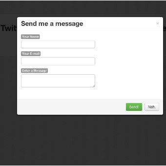 How to Build a Modal Contact Form in Twitter Bootstrap with PHP + AJAX