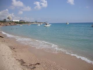 Boats in turquoise sea photos - L'Arenalet Beach - L'Almadrava - Vandellòs - l'Hospitalet de l'Infant -Tarragona
